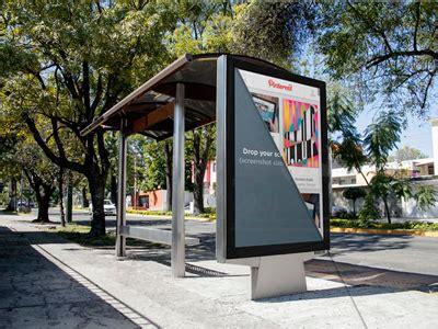 modern ad mockup   bus stop    images