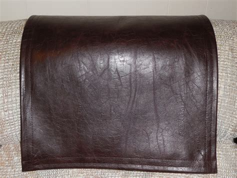 leather sofa headrest covers recliner cover chair pad furniture protector vinyl