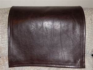 vinyl recliner cover chair head pad furniture protector With furniture head covers