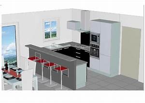 modele cuisine amenagee cuisine en image With plan pour cuisine amenagee