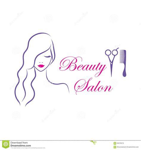 beautiful vector logo template for salon stock vector 63078215