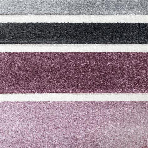 teppich streifen grau lila teppichcenter24