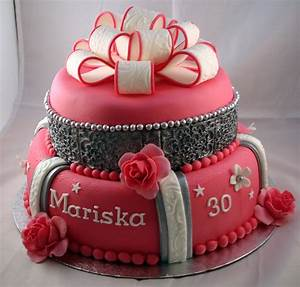 Birthday Cake For 30 Year Old Women - CakeCentral com