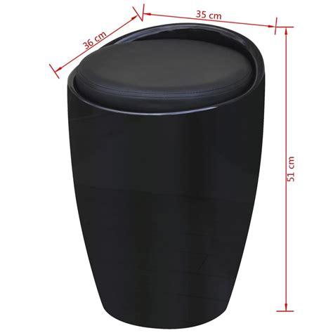 siege rond acheter tabouret abs rond noir avec siège amovible noir