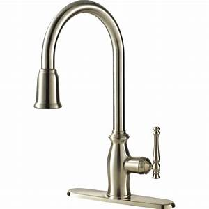 Water efficient single handle kitchen faucet with pull for Where to buy kitchen faucets