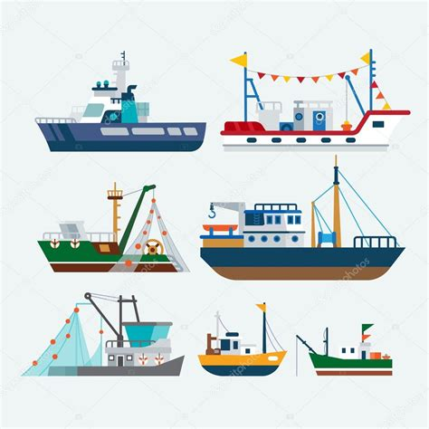 Clipart Boats And Ships by Fishing Boats And Ships Stock Vector 169 Whanwhan Ai
