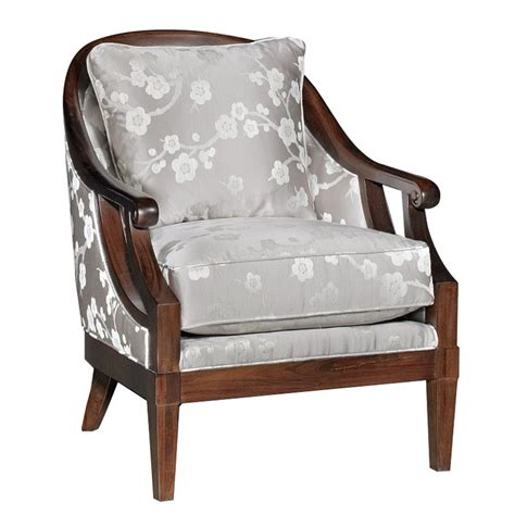 Floral Upholstered Living Room Chairs by Melody Gray Floral Upholstered Traditional Accent Chair