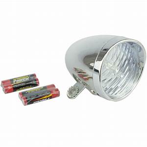 Lampe Led Batterie : fahrrad scheinwerfer oldtimer chrom lampe fahrradlampe ~ Edinachiropracticcenter.com Idées de Décoration