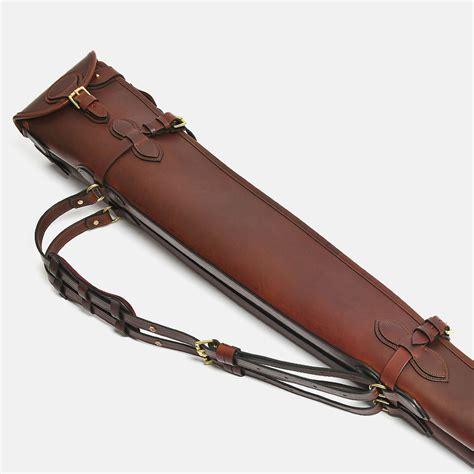 slip gun flap zip classic double collection leather cognac buckle