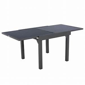 Table Aluminium Extensible : table de jardin extensible aluminium piazza 180 x 90 cm graphite table de jardin eminza ~ Teatrodelosmanantiales.com Idées de Décoration