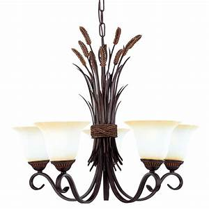Shop Portfolio 5-Light Portfolio Bronze Chandelier at