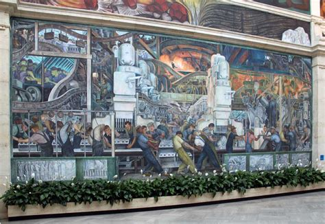 the detroit industry murals images of murals by diego rivera at the detroit institute of arts