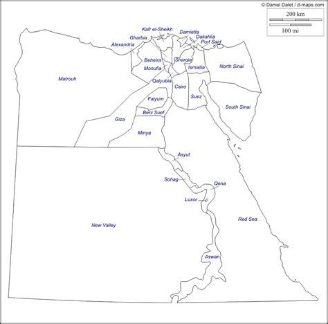 Mapa De Egipto Para Colorear