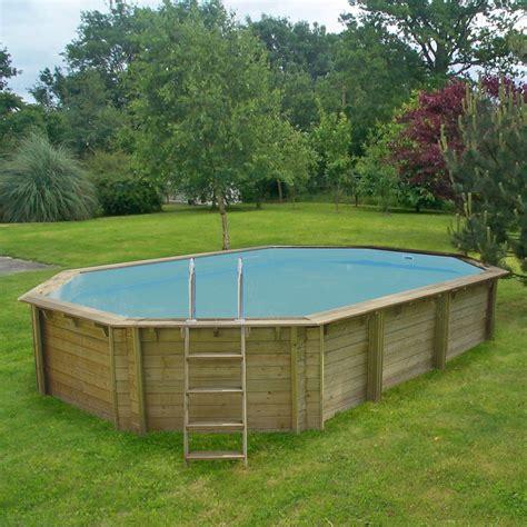 piscine en bois hors sol leroy merlin piscine hors sol bois procopi weva octo 840 octogonale 4 9x8 4m leroy merlin
