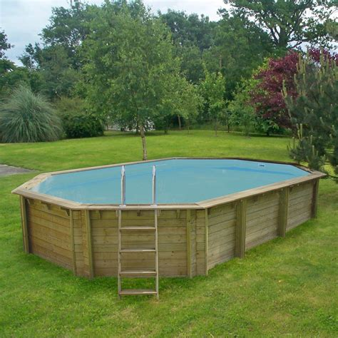piscine hors sol bois weva proswell by procopi l 8 4 x l 4 9 x h 1 46 m leroy merlin