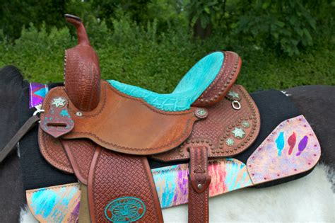 saddle pads ever western saddles glittery horse pad barrel horses horsesandheels tack heels turquoise racing always cowgirl gear