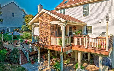 decks  roofs covered deck builder amazing decks