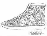 Coloring Pages Shoes Adult Jordan Printable Shoe Adults Shedenhelm Kendra Books Sheets Coolest Templates Cool Colouring Coolmompicks Doodles Birds Curry sketch template