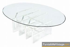 oval lucite coffee table With oval acrylic coffee table