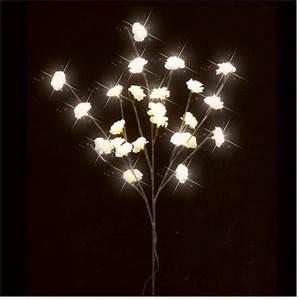 Kleine Led Lampjes : luca lighting tak met kleine cr me bloemen met led verlichting werkt op batterijen ~ Markanthonyermac.com Haus und Dekorationen