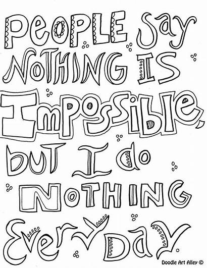 Coloring Pages Quote Doodle Quotes Inspirational Pooh