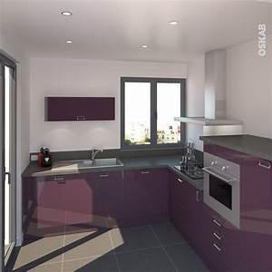 1000 images a propos de cuisine equipee design oskab sur With couleur facade maison moderne 8 modele maison maison contemporaine 588 univia