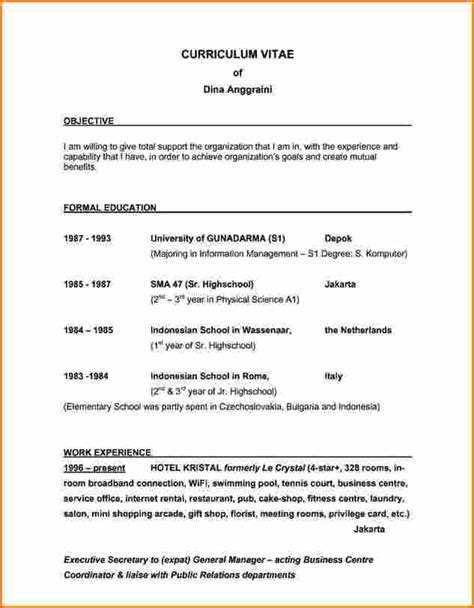 Career Statements For Resume by 5 Career Objective Invoice Template