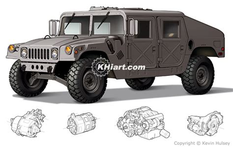 military hummer drawing cutaway vehicles passenger cars and technical automotive