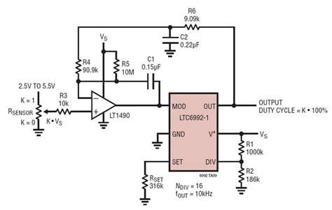 Ratiometric Sensor Pulse Width Non Inverting Response