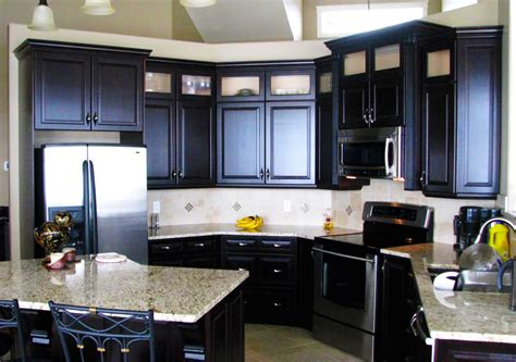 Kitchen Floor Ideas With Black Cabinets by Custom Black Kitchen Cabinets Roy Home Design