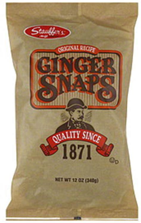 stauffers ginger snaps original recipe  oz nutrition