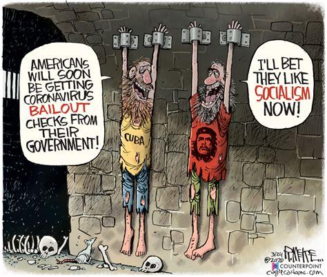 coronavirus socialism political cartoons daily news