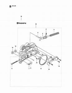 Chain Brake Diagram  U0026 Parts List For Model 235e Husqvarna