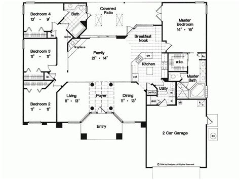unique  bedroom house plans single story  home plans