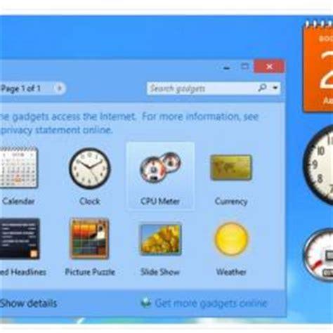 gadgets bureau windows 8 télécharger desktop gadgets and sidebar for windows 8 1