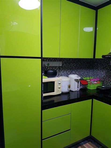 dapur tema hijau desainrumahid