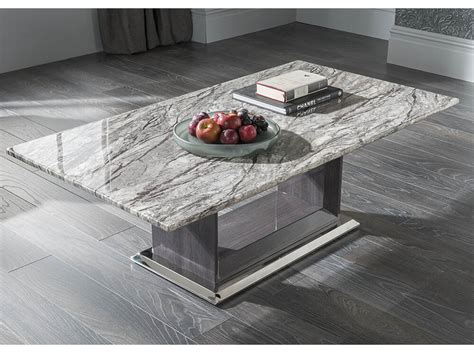 Black friday is back with huge savings on spring home goods! White & Black Grey Contemporary Marble Rectangular Coffee Table Donetella | eBay