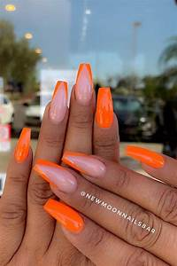 43 of the best orange nail ideas and designs page 2