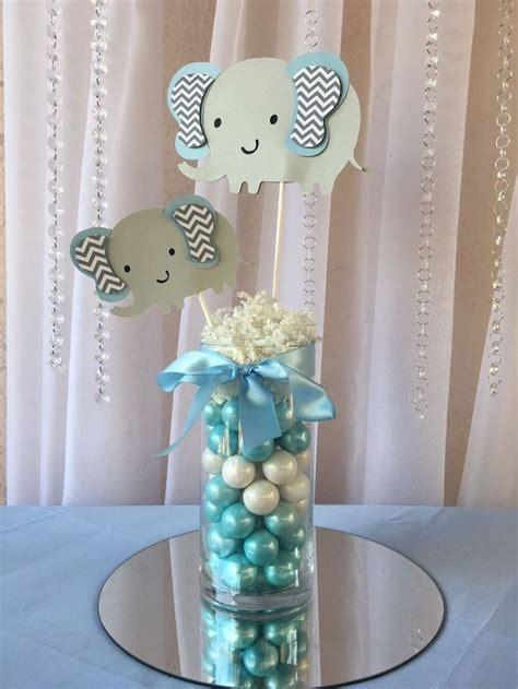 details  light blue elephant centerpieces stick