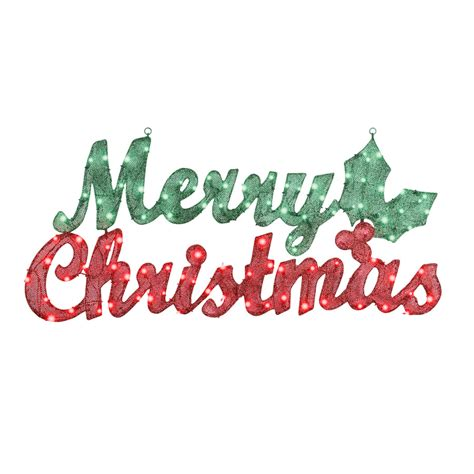 merry christmas lighted sign shop gemmy pre lit merry christmas sign with constant
