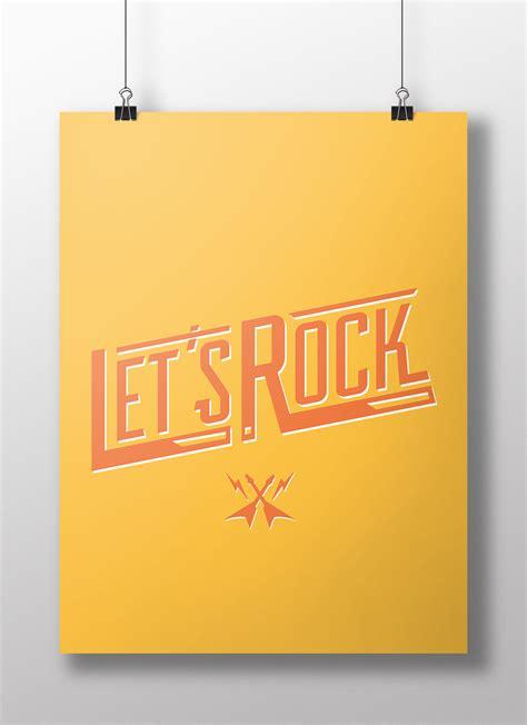 affiche bureau poster let 39 s rock affiche de bureau colorée kollori com