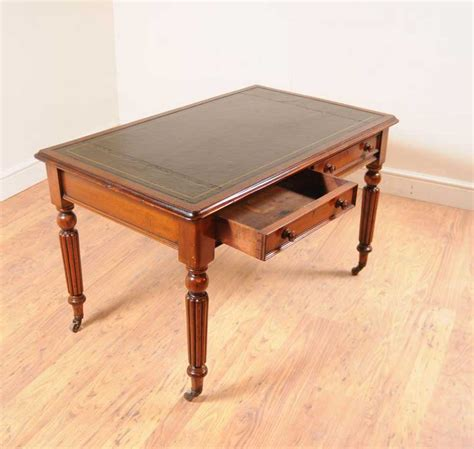 table bureau mahogany william iv writing table desk furniture bureau