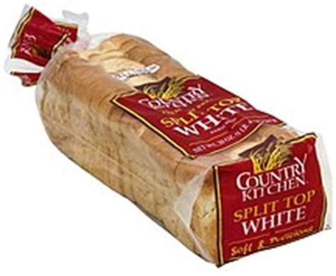 country kitchen nutrition country kitchen bread premium enriched split top white 2848