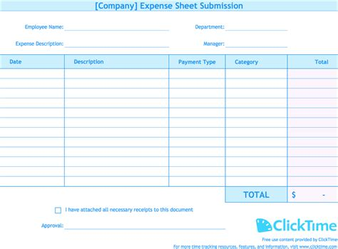 Expense Report Template Detailed Expense Report Template Expense Spreadshee