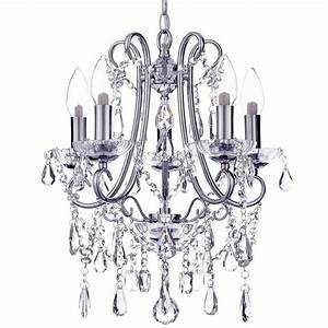 Small 5 light decorative bathroom chandelier light with for Chandeliers for bathrooms uk
