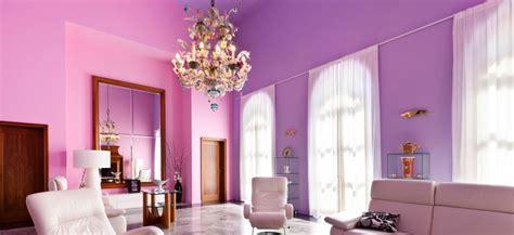 Dreamy Living Room In Lavender Color