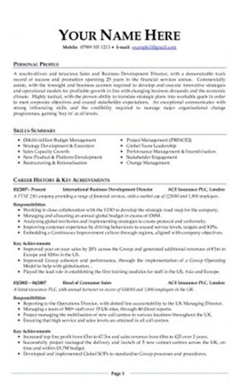 jobcentre cv sample cv templates