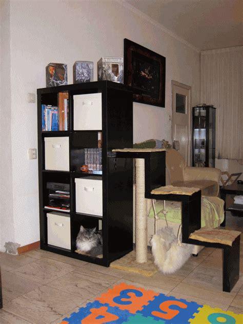 bookcase  scratching post  hammock ikea hackers
