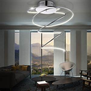 Decken Led Leuchte : led 19 watt decken leuchte acryl lampe beleuchtung spirale globo rebel 67814d kaufen bei www ~ Frokenaadalensverden.com Haus und Dekorationen