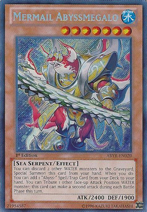 Yugioh Top Deck Archetypes by Yugioh Mermail Abyssmegalo Yugioh